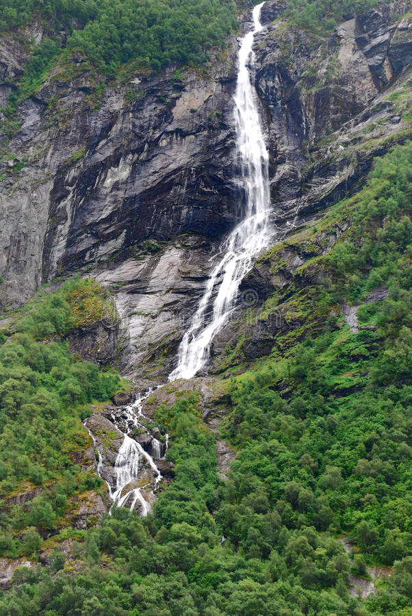 Geiranger Waterfalls stock photography