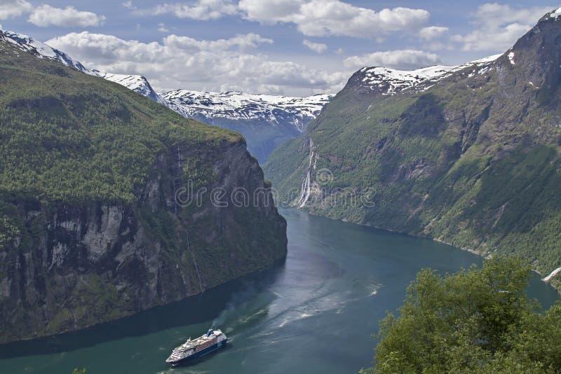Geirangerfjord fotografia royalty free