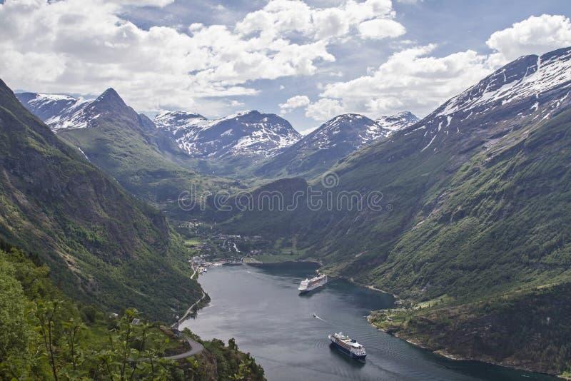 Geirangerfjord στοκ εικόνες με δικαίωμα ελεύθερης χρήσης