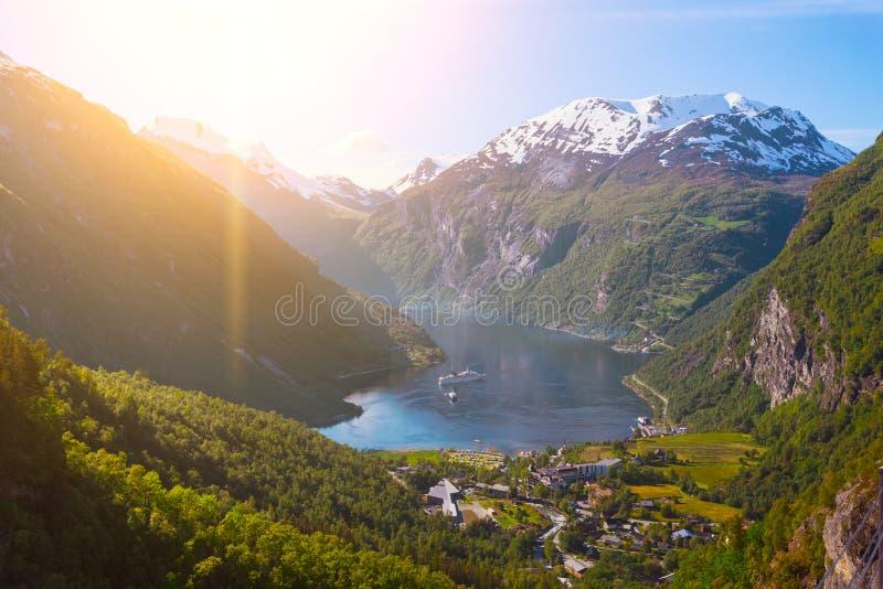 Geirangerfjord στοκ φωτογραφίες