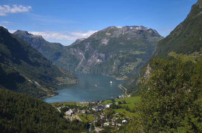 Geirangerfjord et Ørnevegen, Norvège photos stock