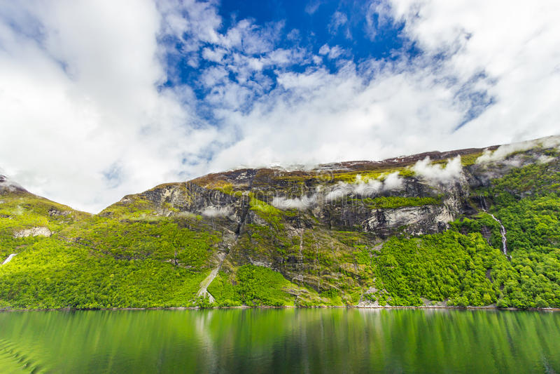 Geirangerfjord, Noruega foto de stock