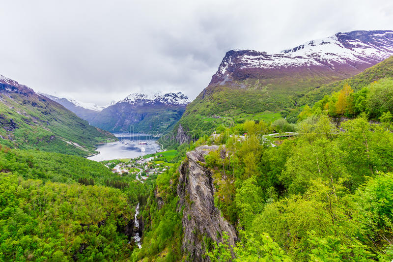 Geirangerfjord, Noruega fotos de stock