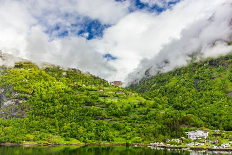Geirangerfjord, Noruega imagem de stock