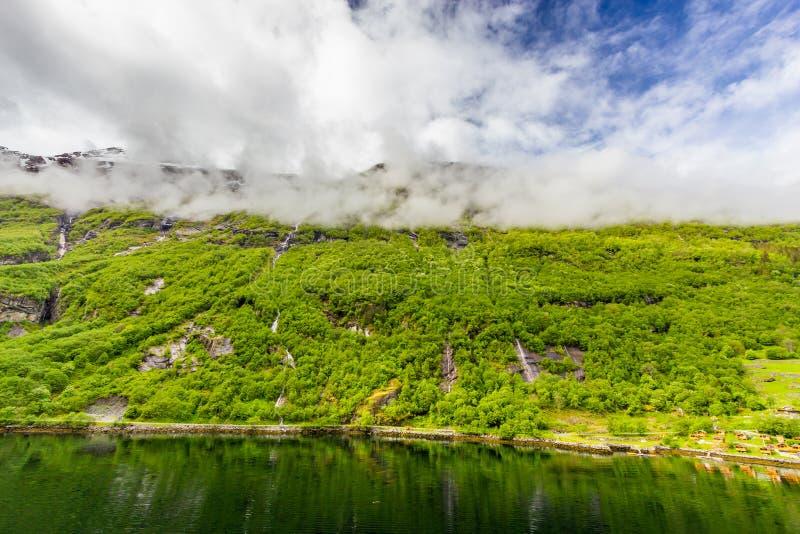 Geirangerfjord, Noruega fotos de stock royalty free