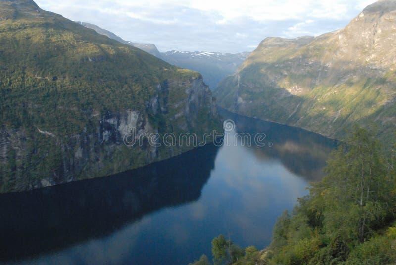 Geirangerfjord in Norway stock photo