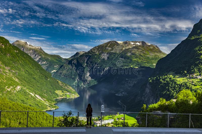 Geirangerfjord in Norway View stock photo