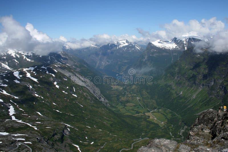 Geirangerfjord vu de la distance photographie stock