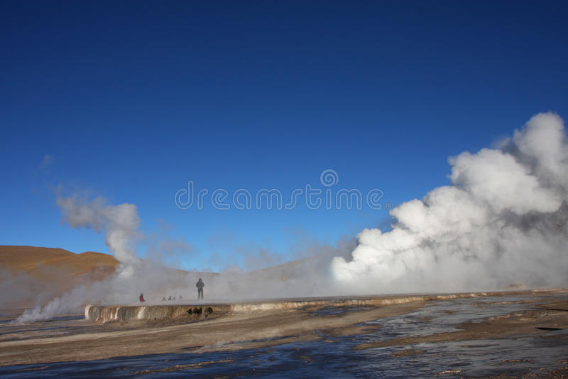 Geiser in Gr Tatio royalty-vrije stock foto's