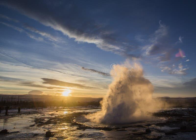 Geiser, IJsland stock fotografie