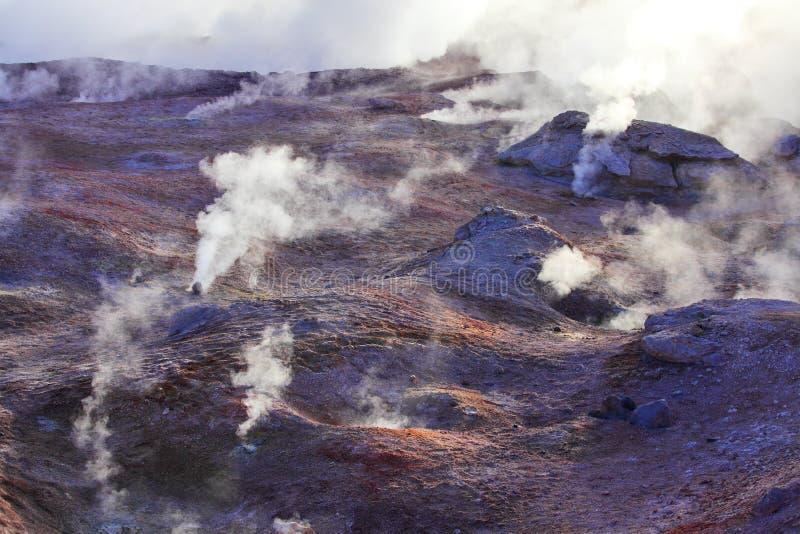 Geisers en vulkaanactiviteit royalty-vrije stock afbeelding