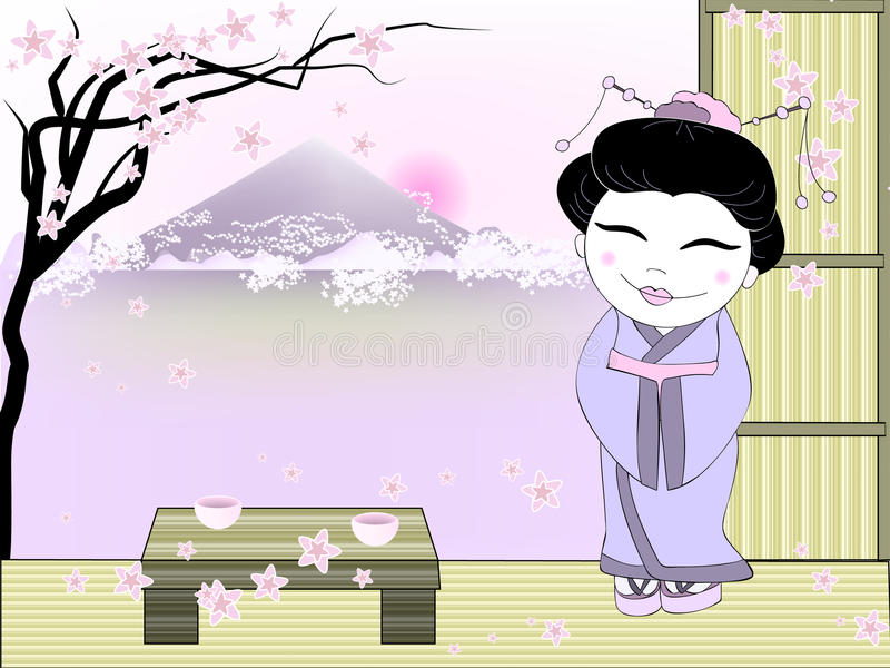 Geisha royalty illustrazione gratis