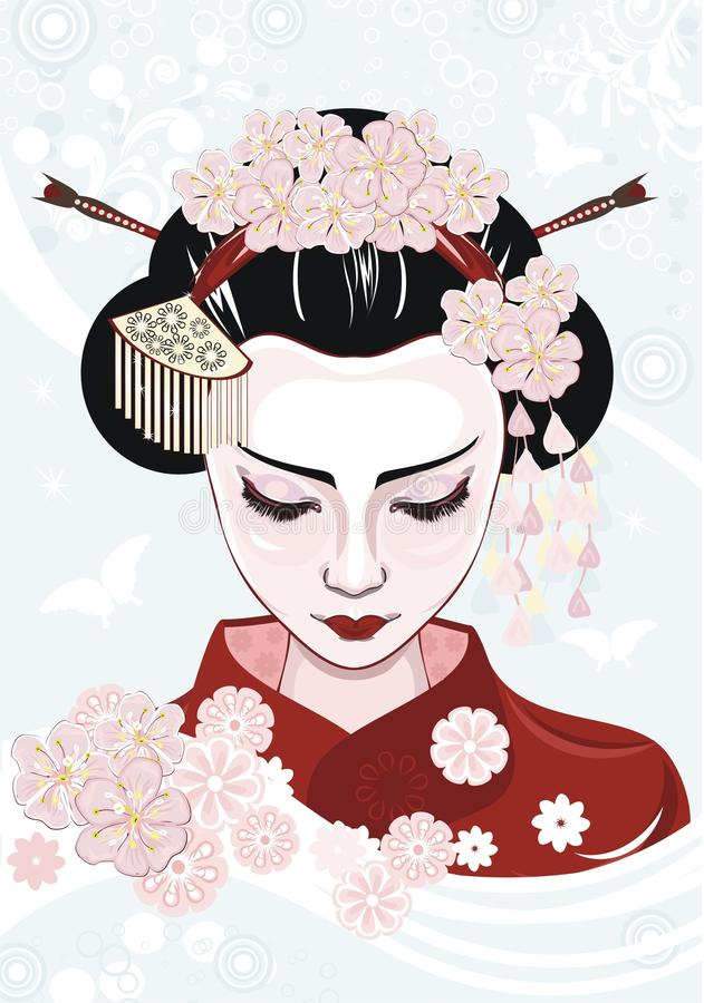 Geisha libre illustration