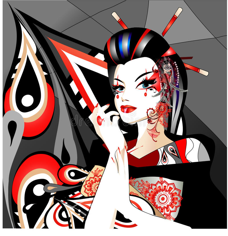 Geisha stock abbildung