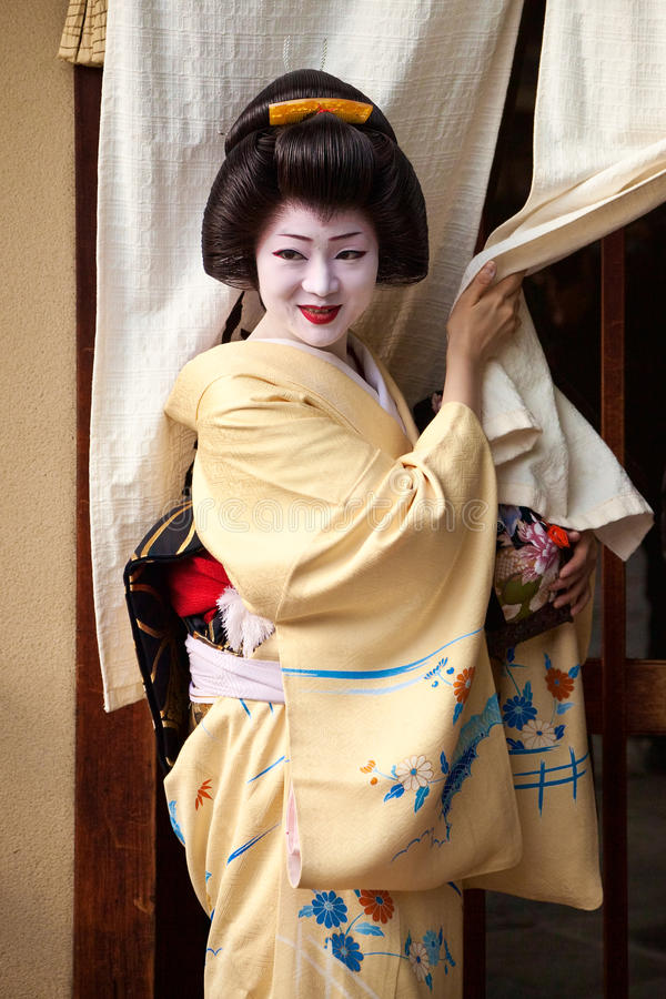 Download Geisha editorial stock photo. Image of curtains, appointment - 25875443