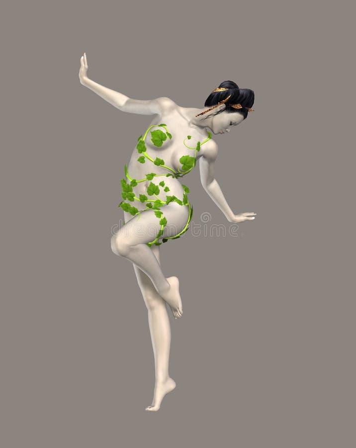 Geisha illustration stock