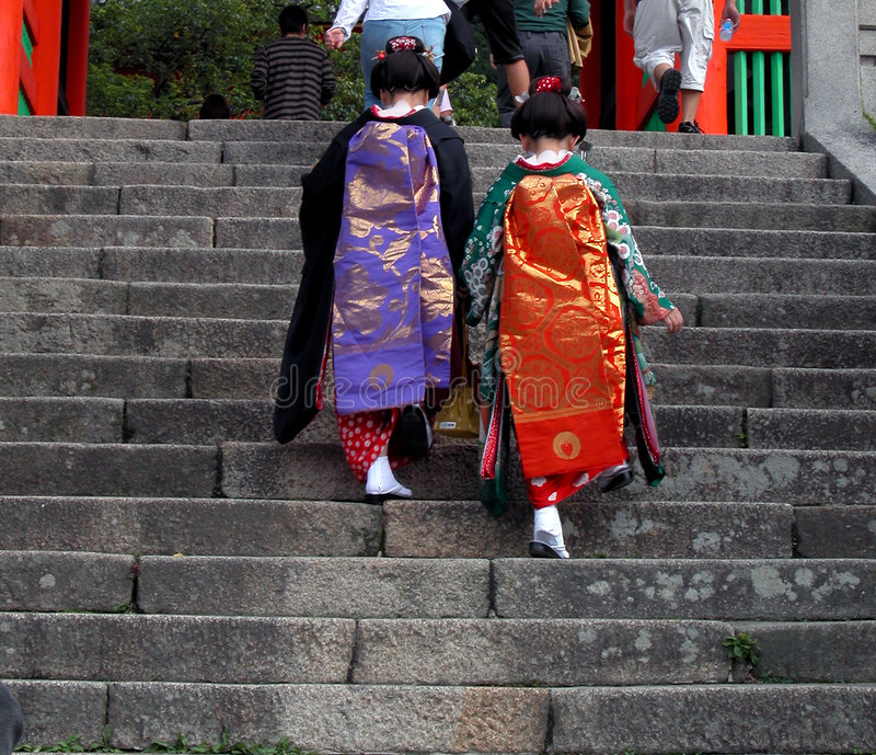 Download Geisha stock photo. Image of kimono, culture, couple, dresses - 40558