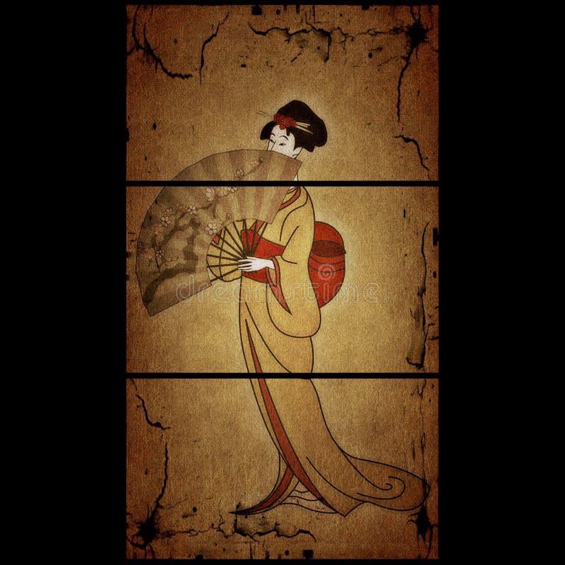 Geisha images libres de droits