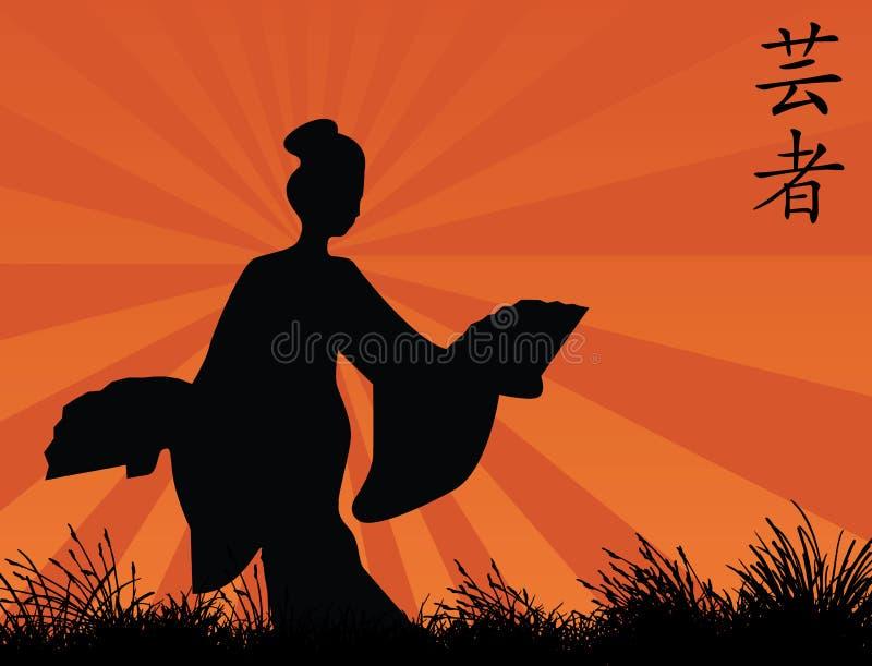 Download Geisha stock vector. Image of cartoon, texture, japan - 6230172