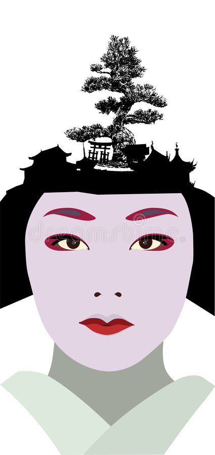 Geisha photographie stock