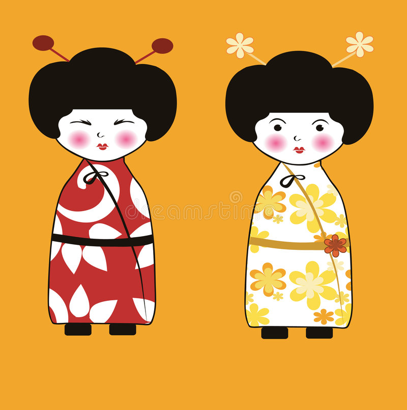 Download Geisha stock vector. Illustration of person, decorate - 7101497