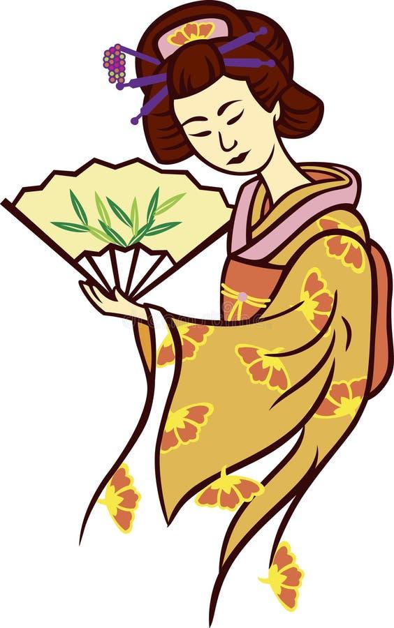 Download Geisha illustration de vecteur. Illustration du danse - 8669798