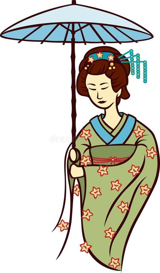 Download Geisha illustration de vecteur. Illustration du élément - 8669846