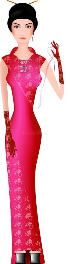 Geisha, china girl royalty free stock photos