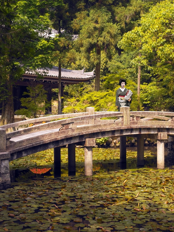 Geisha At Chion-in Temple - Japan Editorial Image