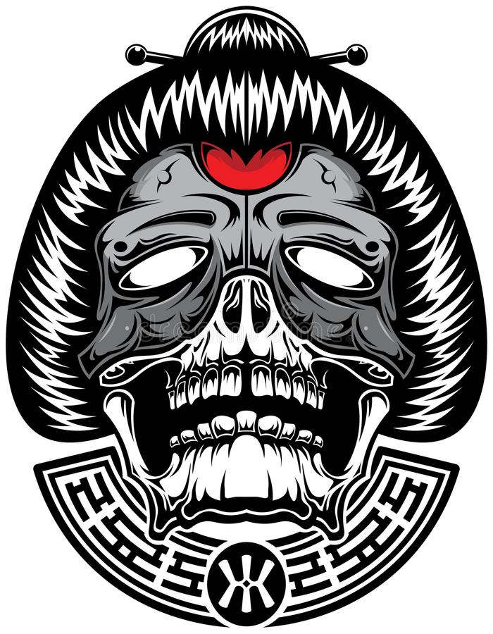Geisha d'enfer illustration stock