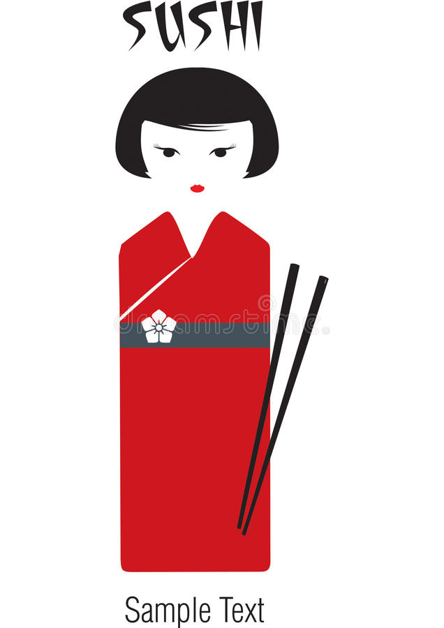 Geisha dei sushi fotografia stock