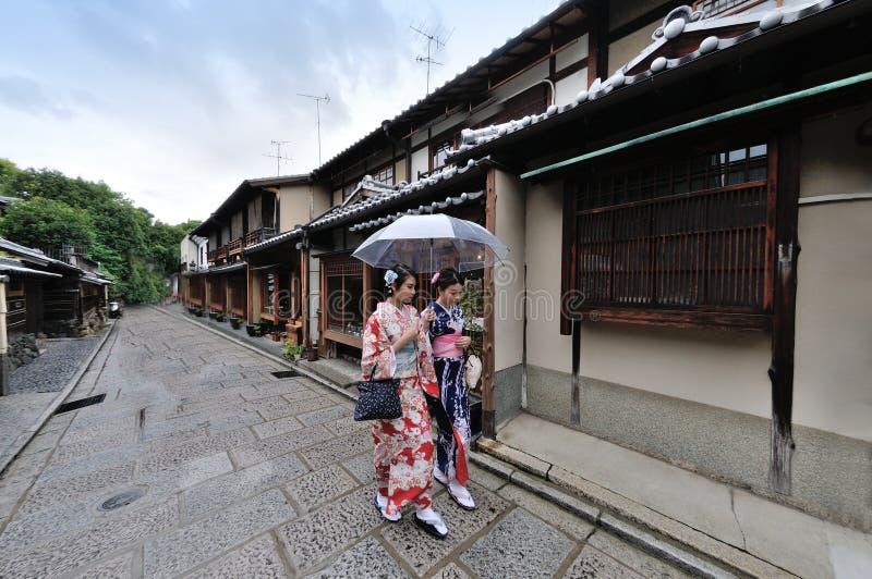 Geisha giapponese del kimono fotografia stock libera da diritti