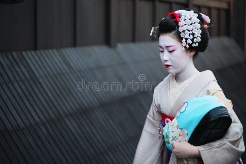 Geisha in Gion lizenzfreies stockbild