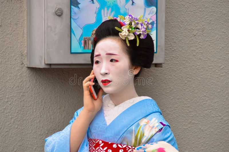 Geisha at Gion royalty free stock photography