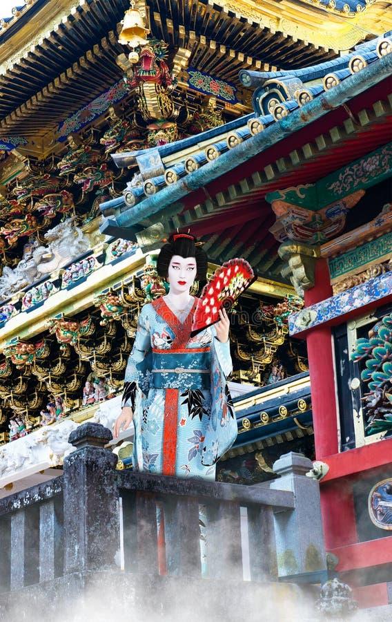 Geisha Girl, Japans, de Vrouw van Japan royalty-vrije stock afbeelding