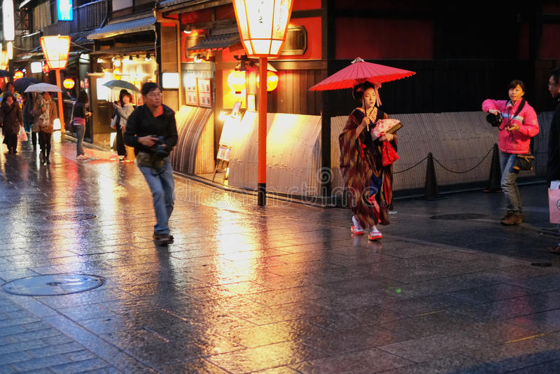 Geisha hunt stock photography
