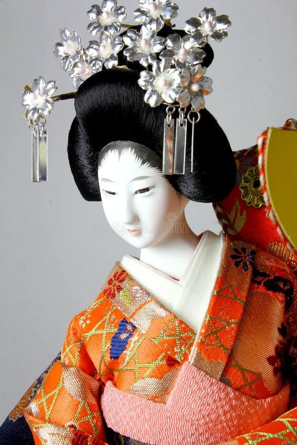 Geisha japanese doll royalty free stock photos