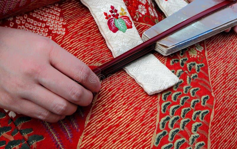 Geisha-ongebruikelijk detail royalty-vrije stock fotografie