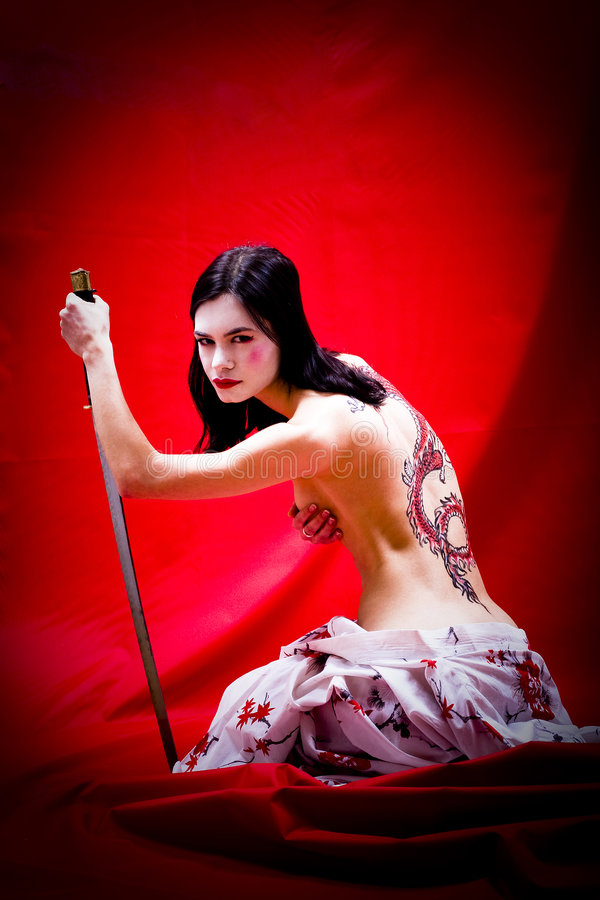 Geisha sexy images libres de droits