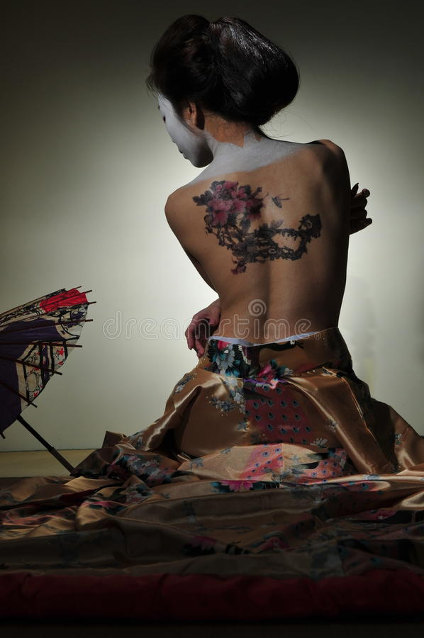 Geisha tattoo stock image