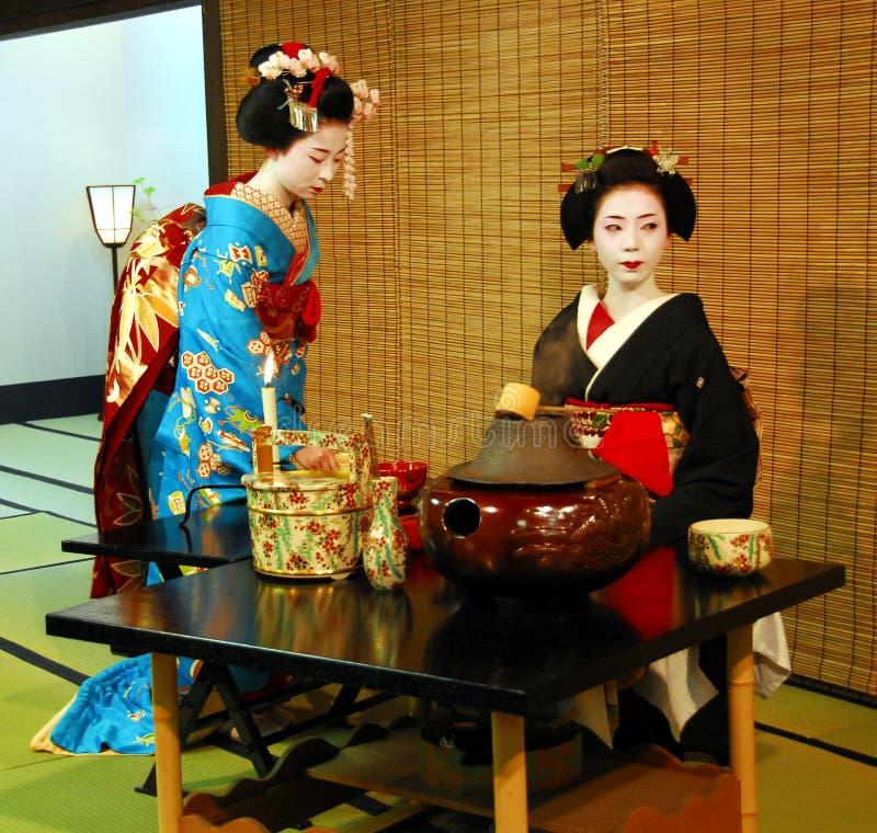 Geisha tea ceremony royalty free stock image