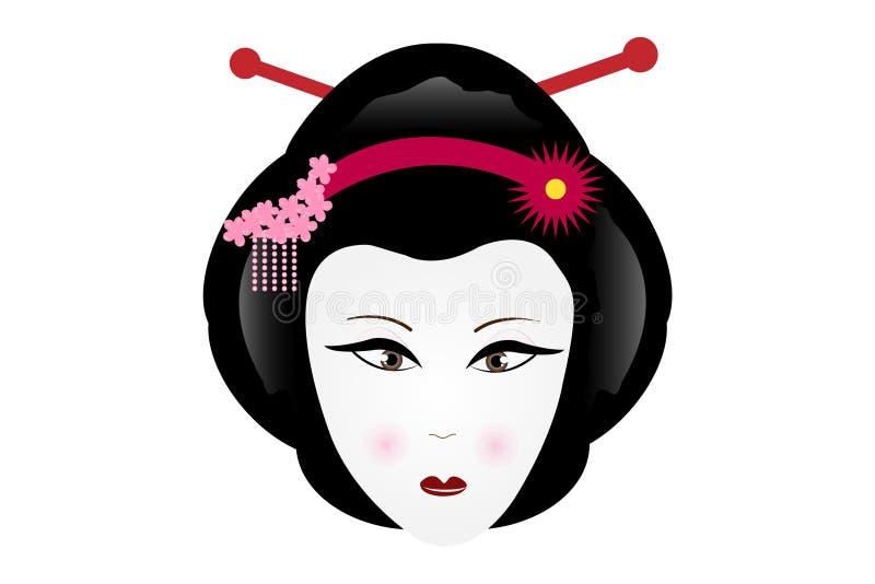 Geisha triste libre illustration