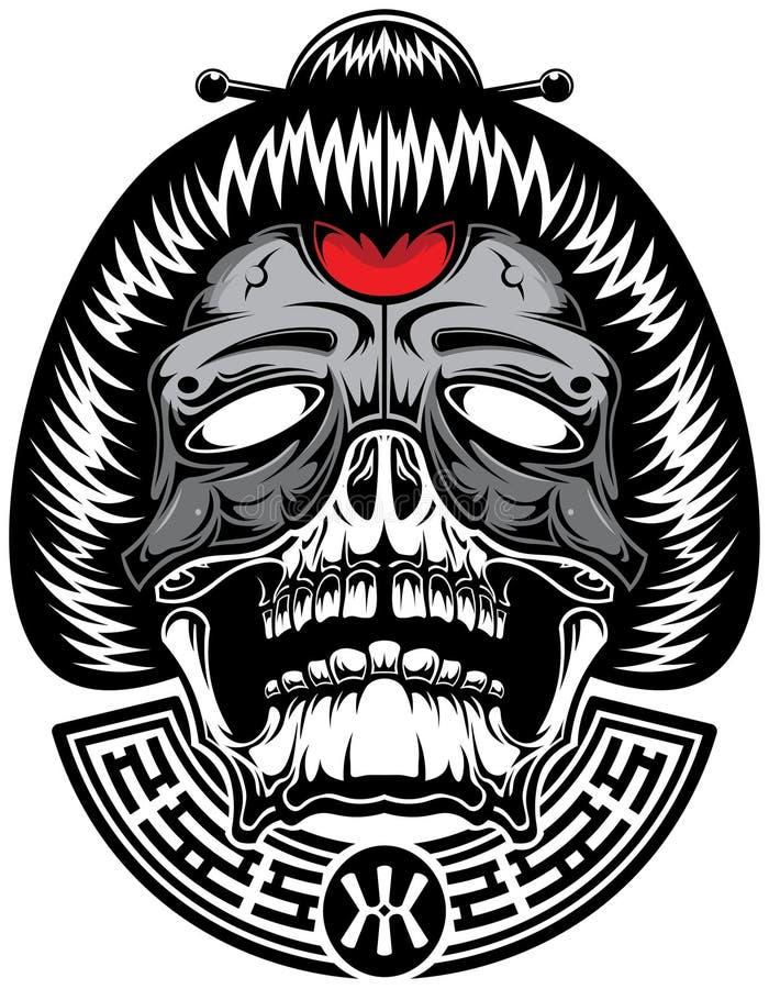 Geisha van hel stock illustratie