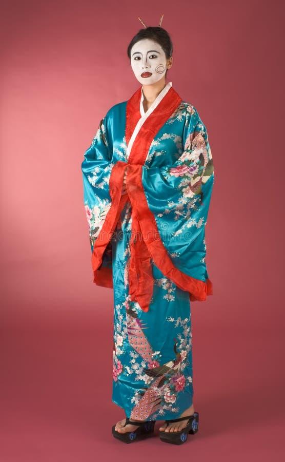 Geisha in yukata immagine stock libera da diritti