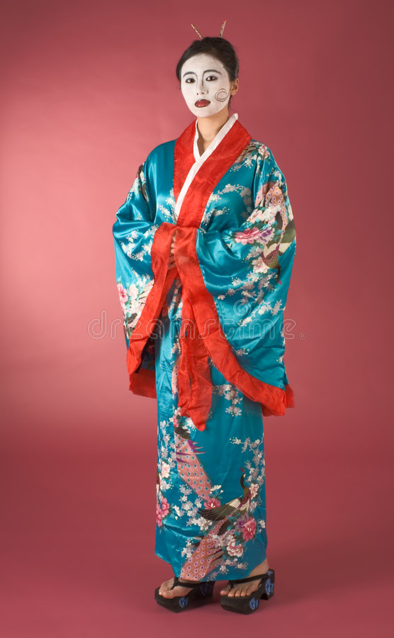 Geisha In Yukata Japanese Royalty Free Stock Image