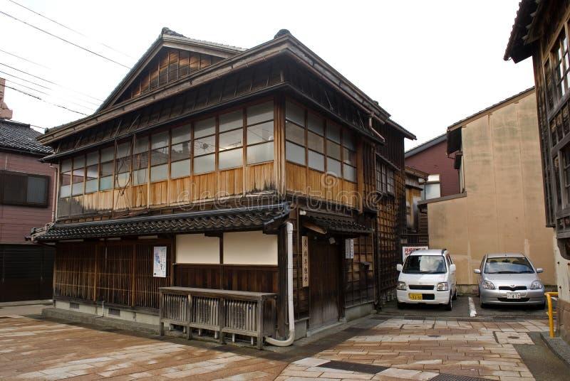 Geishafjärdedel, Kanazawa, Japan royaltyfri fotografi