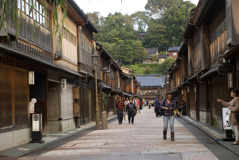 Geishakwart, Kanazawa, Japan royalty-vrije stock fotografie