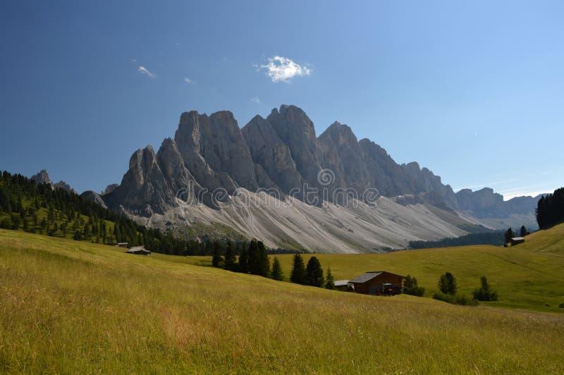 Geislergruppe - Val di Funes stock fotografie