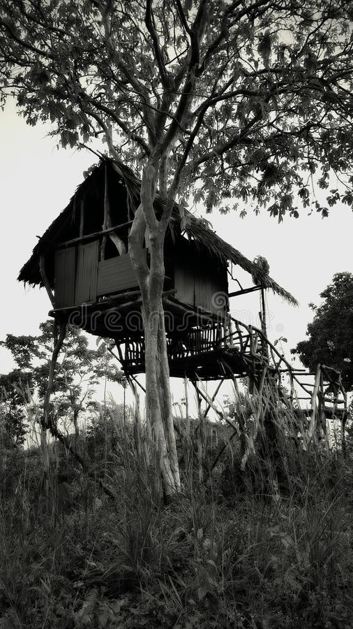 Geist-Bungalow im Dschungel lizenzfreie stockfotografie