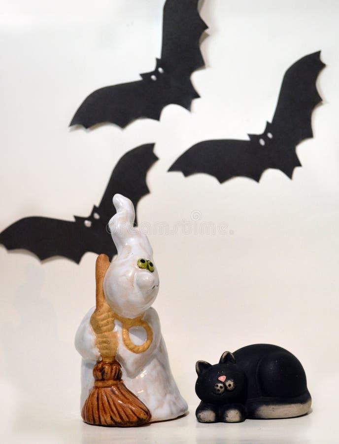 Geist und seine Katze lizenzfreies stockfoto